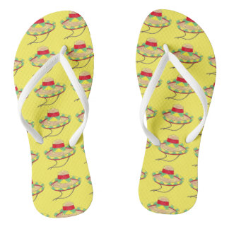 Cinco de Mayo Sombrero Hat Hats Fiesta Party Print Flip Flops