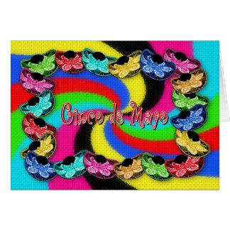 Cinco de Mayo - Sombrero Hats - Greeting Card