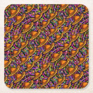 Cinco de Mayo Square Paper Coaster