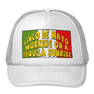Cinco de Mayo Tequila Sunrise T-shirts and Gifts Trucker Hat