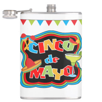 Cinco de Mayo Typography Flask