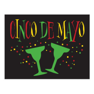 Cinco de Mayo with Margaritas Postcard