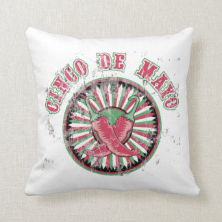 Cinco de Mayo with Peppers Throw Pillow