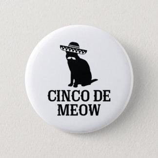 Cinco De Meow 2 Inch Round Button