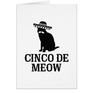 Cinco De Meow Card