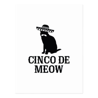 Cinco De Meow Postcard