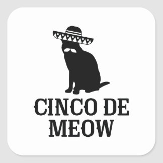 Cinco De Meow Square Sticker