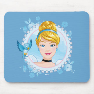Cinderella And Blue Bird Mouse Pad
