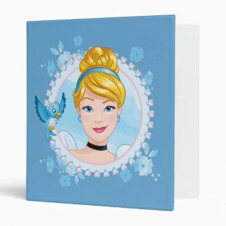 Cinderella And Blue Bird Vinyl Binder