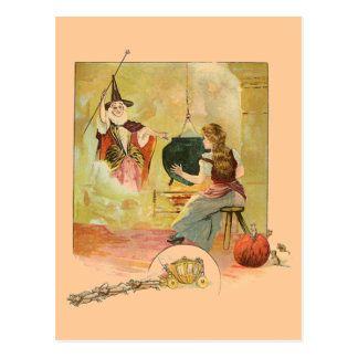 Cinderella And Her Fairy God Mother Postcard