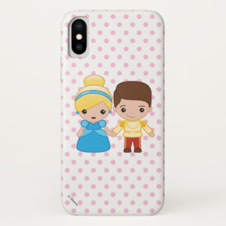 Cinderella and Prince Charming Emoji iPhone X Case
