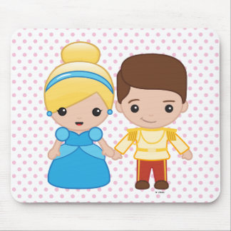 Cinderella and Prince Charming Emoji Mouse Pad