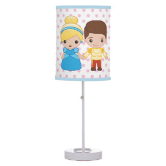 Cinderella and Prince Charming Emoji Table Lamp
