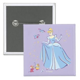Cinderella | Bibbidi, Bobbidi, Boo 2 Inch Square Button