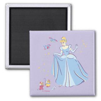 Cinderella | Bibbidi, Bobbidi, Boo Square Magnet