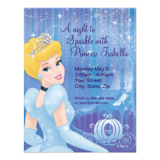 Cinderella Birthday Invitation Custom Invitations