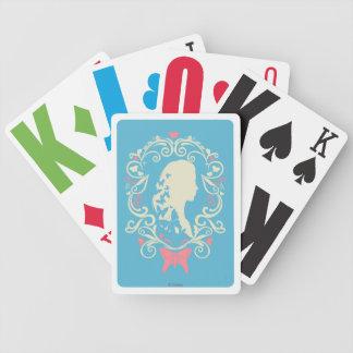 Cinderella Butterfly Cameo Poker Deck