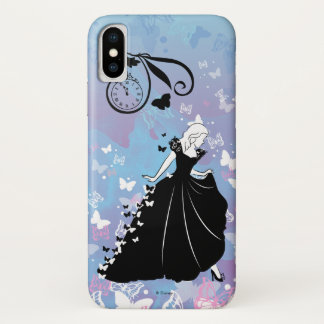 Cinderella Butterfly Dress Silhouette iPhone X Case