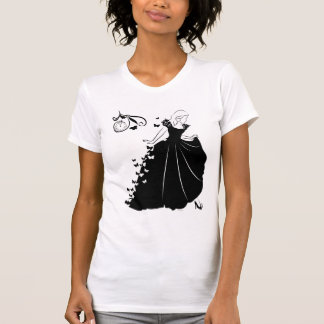 Cinderella Butterfly Dress Silhouette Tee Shirts