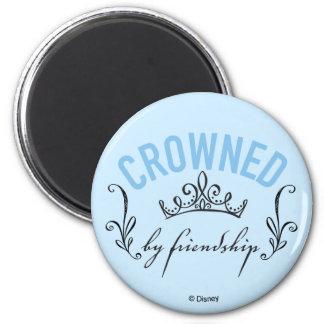 Cinderella   Crowned By Friendship 2 Inch Round Magnet