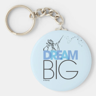 Cinderella | Dream Big Basic Round Button Keychain