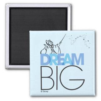 Cinderella   Dream Big Square Magnet