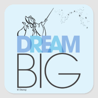 Cinderella | Dream Big Square Sticker