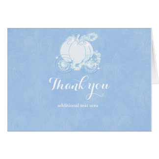 Cinderella Elegant Blue Fairytale Carriage Card