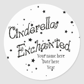 Cinderella Enchanted Classic Round Sticker