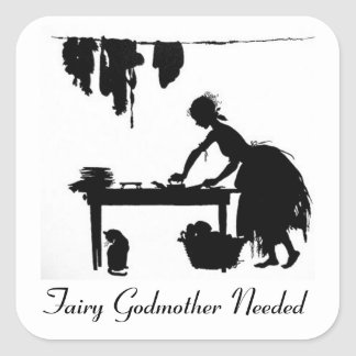 Cinderella Fairy Godmother Needed Sticker