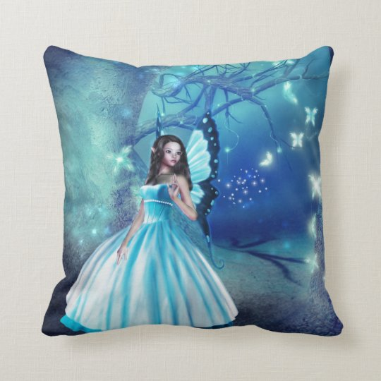 Cinderella Fairy Throw Pillow