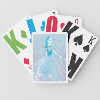Cinderella Fanciful Butterfly Flourish Poker Deck