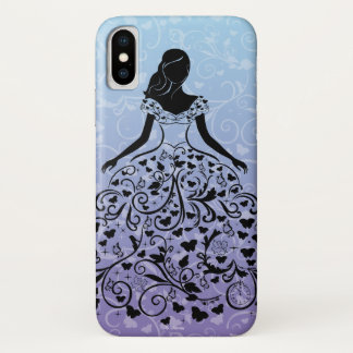 Cinderella Fanciful Dress Silhouette iPhone X Case