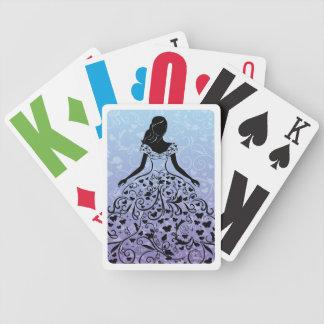 Cinderella Fanciful Dress Silhouette Poker Deck