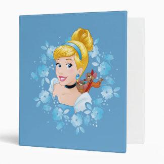 Cinderella | Flower Frame And Mice 3 Ring Binders
