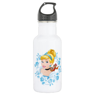 Cinderella | Flower Frame And Mice 532 Ml Water Bottle