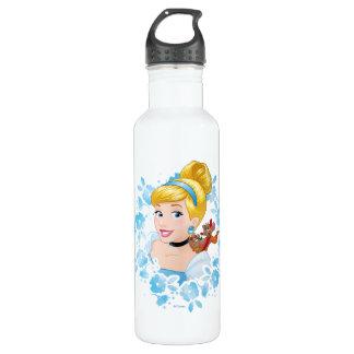 Cinderella | Flower Frame And Mice 710 Ml Water Bottle