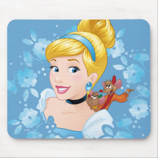Cinderella | Flower Frame And Mice Mouse Pad