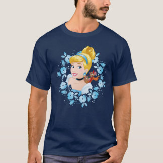 Cinderella | Flower Frame And Mice T-Shirt
