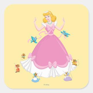 Cinderella & Friends Square Sticker