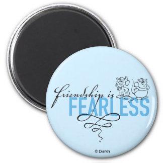 Cinderella   Friendship Is Fearless 2 Inch Round Magnet
