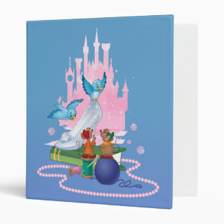 Cinderella | Glass Slipper And Mice 3 Ring Binders