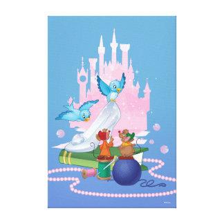 Cinderella | Glass Slipper And Mice Canvas Print
