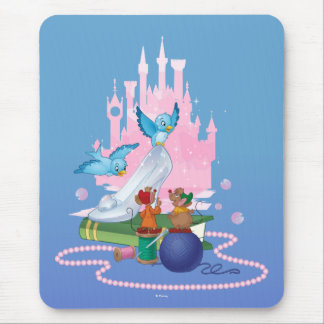 Cinderella | Glass Slipper And Mice Mouse Pad