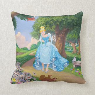 Cinderella | Glass Slippers Throw Pillow