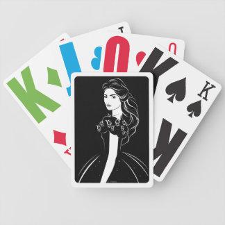 Cinderella Graphic on Black Poker Deck