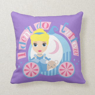 Cinderella | I Don't Do Curfew Throw Pillow