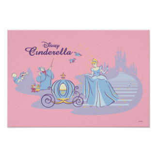 Cinderella Leaving the Ball Poster