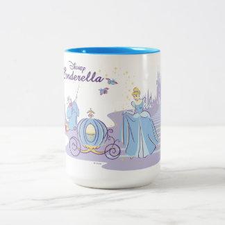 Cinderella Leaving the Ball Two-Tone Coffee Mug