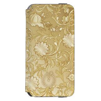 Cinderella Ornate Golden Pattern Incipio Watson™ iPhone 6 Wallet Case